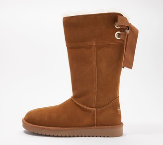 Koolaburra by UGG Suede Bow Tall Boots - Andrah