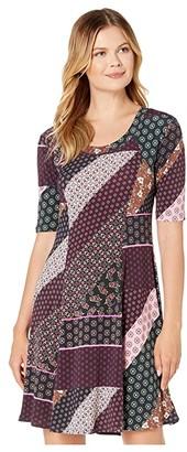 Karen Kane Seamed A-Line Dress (Print) Women's Clothing