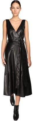 Petar Petrov Leather Midi Dress W/ Belt