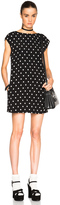 Saint Laurent Polka Dot Shift Dress