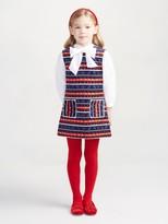 Oscar de la Renta Winter Melody Velvet A-Line Dress