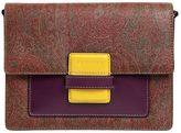 Etro Rainbow Paisley Leather Shoulder Bag