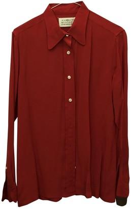 Maison Margiela Red Silk Top for Women