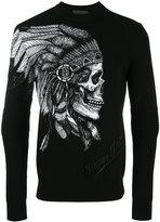 Philipp Plein skull print sweatshirt - men - Cotton/Polyester/Viscose - L