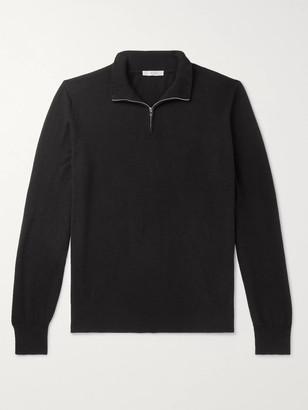 The Row Dexter Cashmere Half-Zip Sweater
