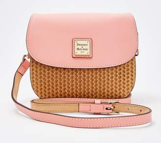 Dooney & Bourke Beacon Leather Woven Saddle Crossbody