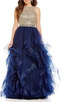 Ellie Wilde Lace Top Two-Piece Layered Ball Gown