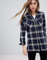 Noisy May Erik Oversized Check Shirt