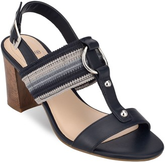 Bandolino Block Heel T-Strap City Sandals - Declan