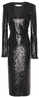 Philosophy di Lorenzo Serafini Open-back Lace-trimmed Sequined Crepe Midi Dress