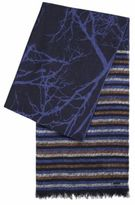 HUGO BOSS Jacquard scarf with mixed patterns