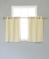 Best Home Fashion Beige Blackout Valance - Set of Two