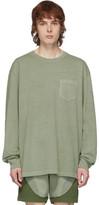John Elliott Green Loose Stitch Long Sleeve T-Shirt