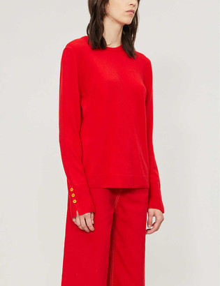 Benetton Crewneck wool and cashmere-blend jumper