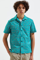 MONITALY Night Jungle Vacation Short Sleeve Button-Down Shirt