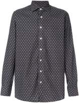 Lardini long-sleeved patterned shirt