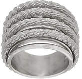 Judith Ripka As Is Sterling or 14K Clad Multi-row Ring