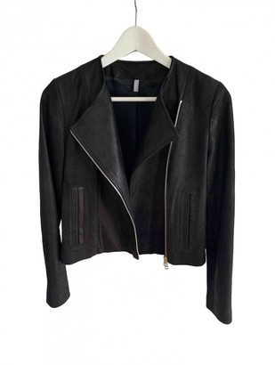 Faith Connexion Black Leather Jacket for Women