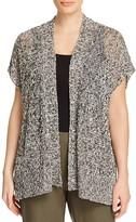 Eileen Fisher Plus Marled Short Sleeve Cardigan