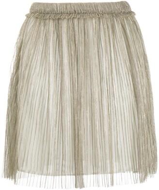 Etoile Isabel Marant Metallic Pleated Skirt