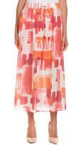 Joan Vass Linen Midi Skirt