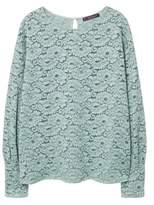 Violeta BY MANGO Lace panel blouse
