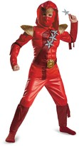 Disguise Red Fire Ninja Classic Muscle Costume (Baby, Little Boys & Big Boys)