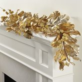 Crate & Barrel Gold Magnolia Garland