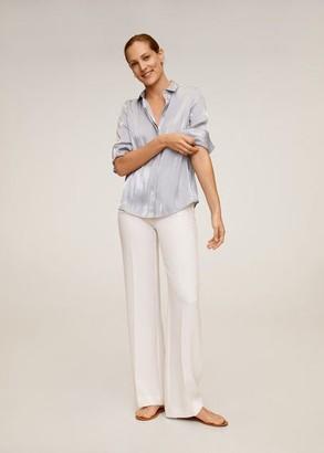 MANGO Satin blouse lavender - 4 - Women