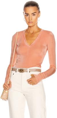 Alix Perry Bodysuit in Peach | FWRD