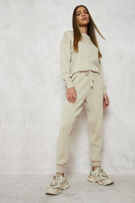 boohoo Knitted Jumper & Jogger Co-ord