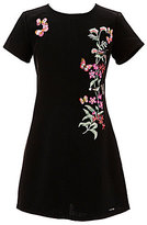 Marciano Big Girls 7-16 Floral/Butterfly-Embroidered Shift Dress
