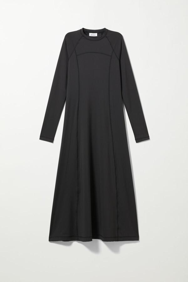 Weekday Amida Dress - Black