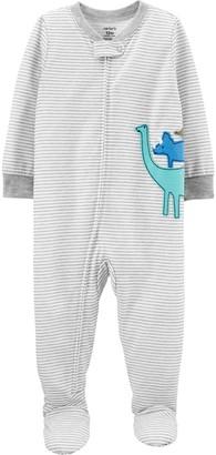 Carter's Baby Boy Dinosaur Zip-Up Sleep & Play Pajamas