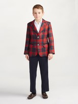 Oscar de la Renta Holiday Plaid Wool Blazer
