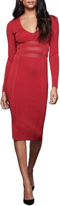 Good American Deep V Long-Sleeve Midi Dress - Inclusive Sizing