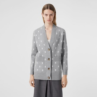 Burberry onogra Wool Cashere Blend Oversized Cardigan