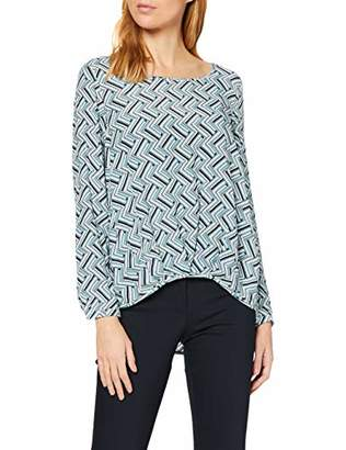 Seidensticker Women's Fashion-Bluse 1/1-LANG Blouse, Multicolour (Black/White 39)