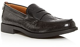 Burberry Men's Emile Leather Moc-Toe Penny Loafers