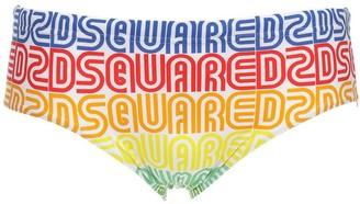 Dsquared2 Underwear Rainbow Pride Logo Nylon Swim Briefs