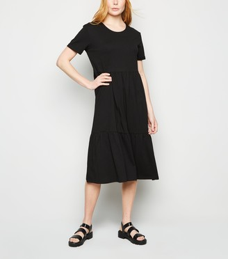 New Look Short Sleeve Smock Midi Dress