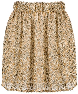 Forte Forte Embroidered Silk Mini Skirt