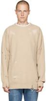 Diesel Beige Distressed K-LOL Sweater