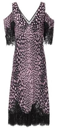 McQ Cold-shoulder Lace-trimmed Leopard-print Crepe Midi Dress