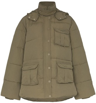Ganni hooded puffer jacket