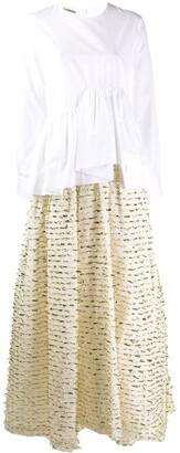 ANAÏS JOURDEN asymmetric shirt evening dress