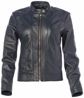 Cole Haan Women's Leather Racer Jacket