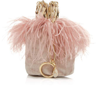 Rosantica Aramis Feather-Trimmed Velvet Bag