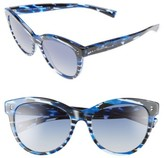 Valentino Garavani Women's Valentino 54Mm Cat Eye Sunglasses - Blue/ Spotted Havana