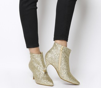 Shoe The Bear Shoe the Bear Abby Ankle Boots Gold Glitter